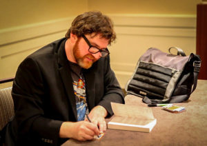 Ernie Cline at a book signing
